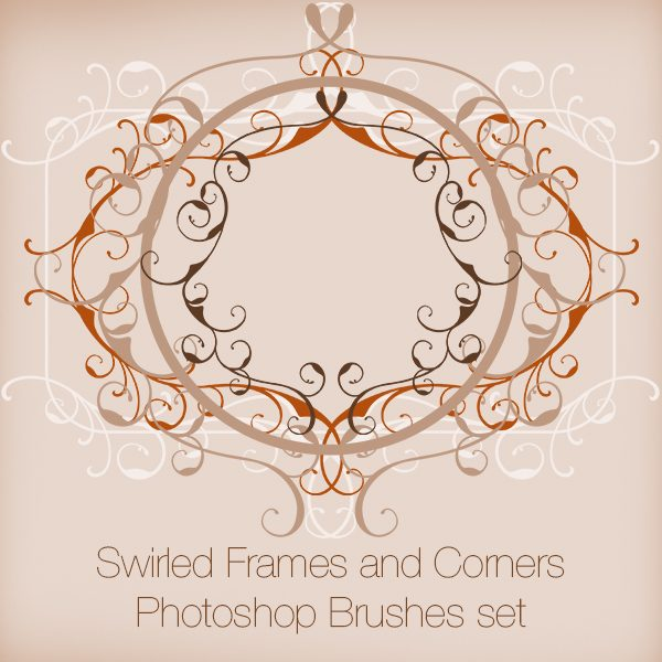 Swirled Frames and Corners Photoshop Brushes