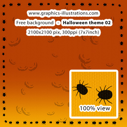 Free download, try before you buy: Halloween background, 2100x2100 px
