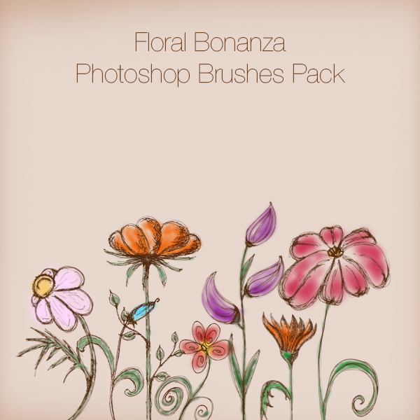 Floral Bonanza Photoshop Brushes Pack