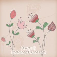Flowers 2 Photoshop Brushes Pack