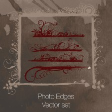 Photo Edges Vector set