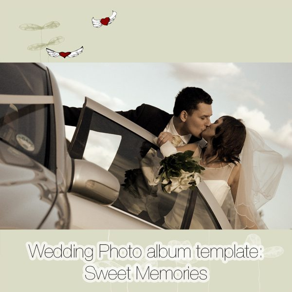 Wedding Photo album template: Sweet Memories