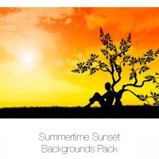 Summertime Sunset Backgrounds Pack