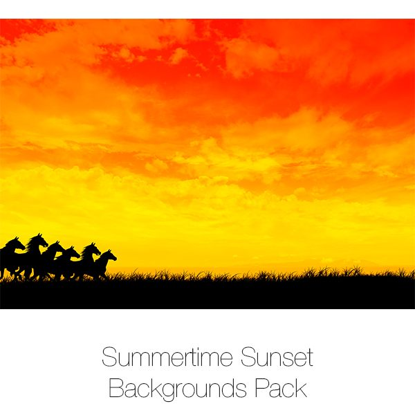Summertime Sunset Backgrounds Pack