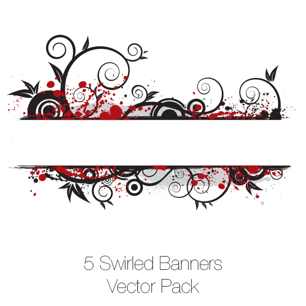 Swirled Banners Vector Pack