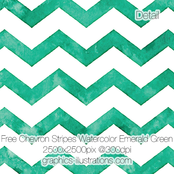 Free download, try before you buy: Chevron Stripes Watercolor Backgrounds, Emerald Green, 2500x2500 px