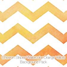 Chevron Stripes Watercolor Backgrounds Pack, Orange Yellow