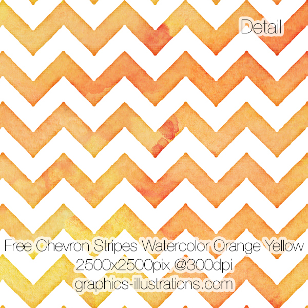 Free Chevron Stripes Watercolor Background, Orange Yellow