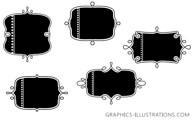 Text Blocks Photoshop Brushes - Free Download