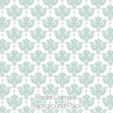 Damask Backgrounds, Pastel Colors