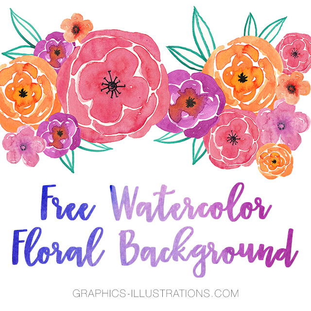Watercolor Floral Background With Text Space, Free Download, Commercial Use