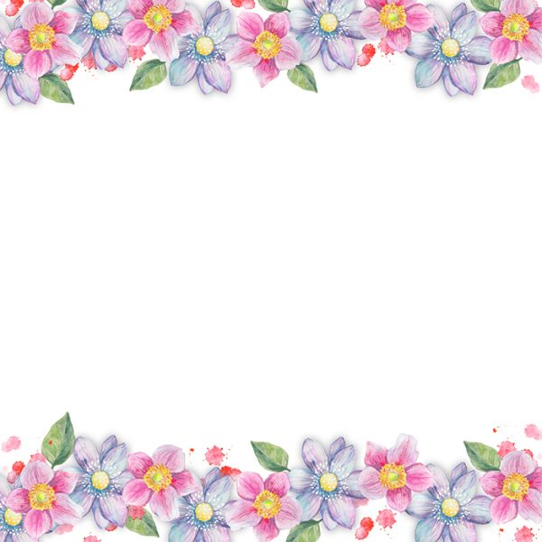 126 Watercolor Floral Backgrounds Pack