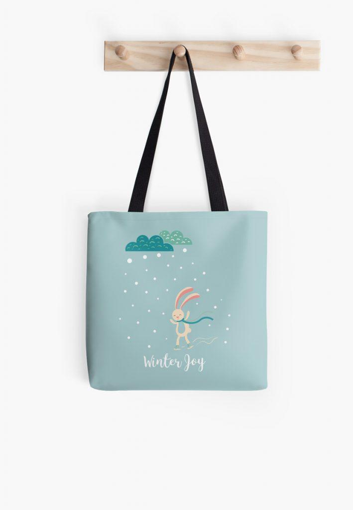 Winter Joy Tote Bag