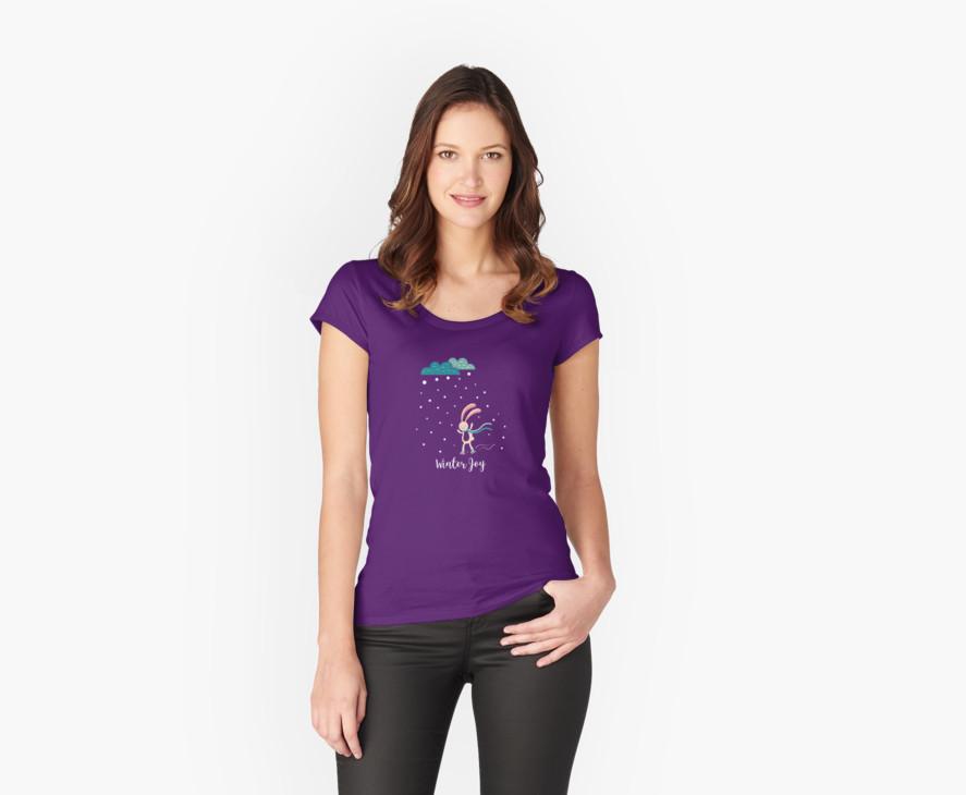 Winter Joy Women's Fitted Scoop T-Shirt