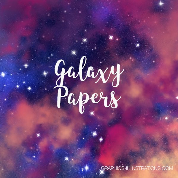Galaxy Papers, Galaxy Backgrounds 12x12 inches