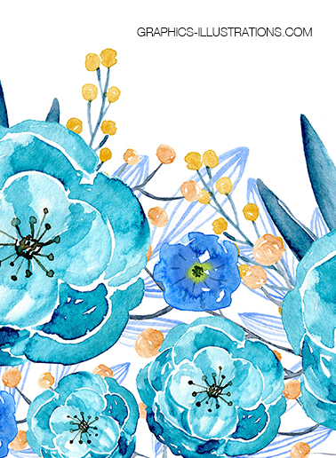 Watercolor Floral Backgrounds and Possibilities