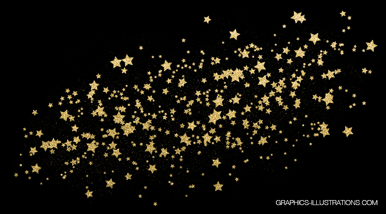 Free Gold Glitter Stardust transparent PNG file