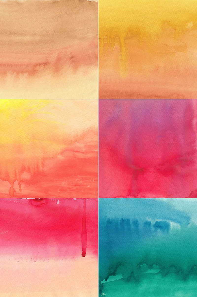 Watercolor Backgrounds Set 2