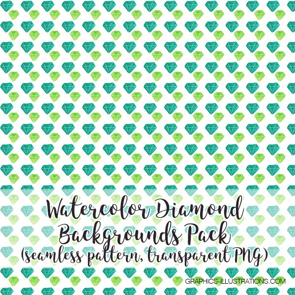 Watercolor Diamond Seamless Pattern Backgrounds