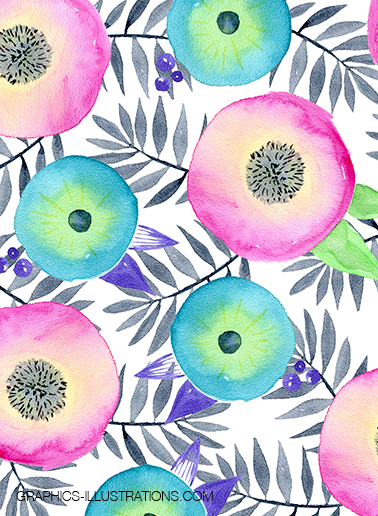 Watercolor Floral Backgrounds