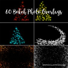 Bokeh Photo Overlays, Pack of 60