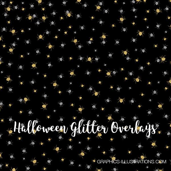 Halloween Glitter Overlays