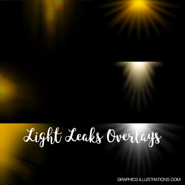 Light Leak Overlays For Photoshop Pack
