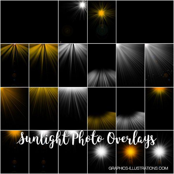 Sunlight Photo Overlays, Sunbeams Overlays