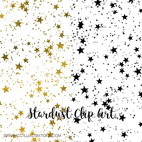 Stardust Clip Art for Hot Foil Printing
