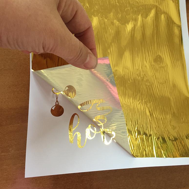 Season's Greetings Clip Art for Hot Foil Printing and Season's Greetings Gold Glitter Clip Art