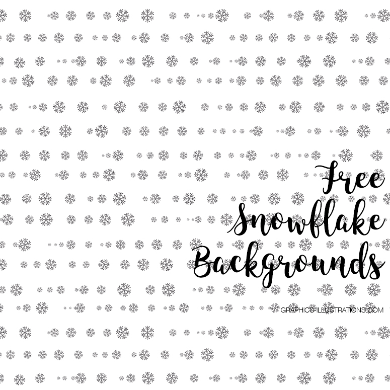 Free Snowflakes Digital Papers