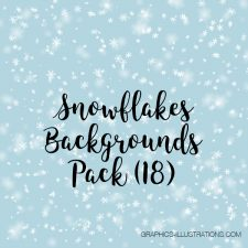 Snowflakes Digital Papers Pack