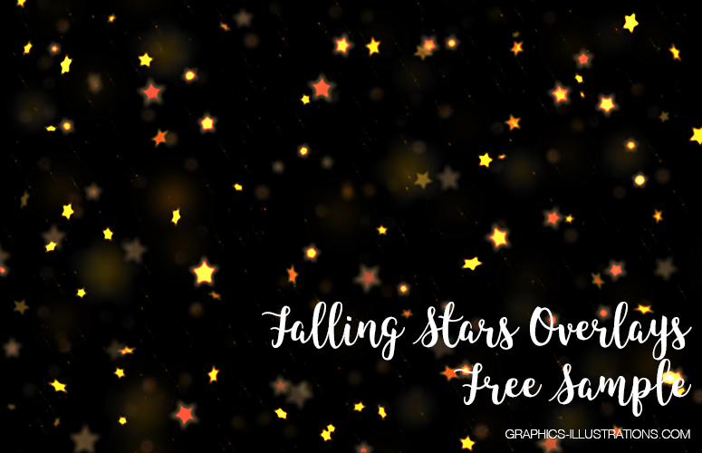 Falling Stars Photo Overlays - Free Sample