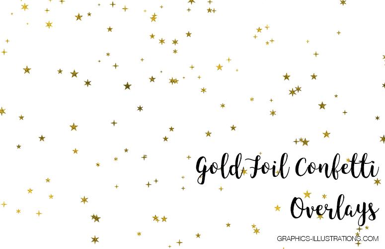 Gold Foil Confetti Overlays - Free sample