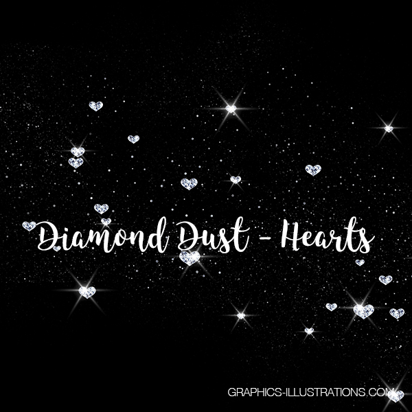 Diamond Dust, Hearts, Valentine's Day Clip Art