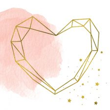 Crystal Shapes, Gold and Gold Glitter