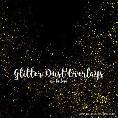 Glitter Dust Photoshop Overlays