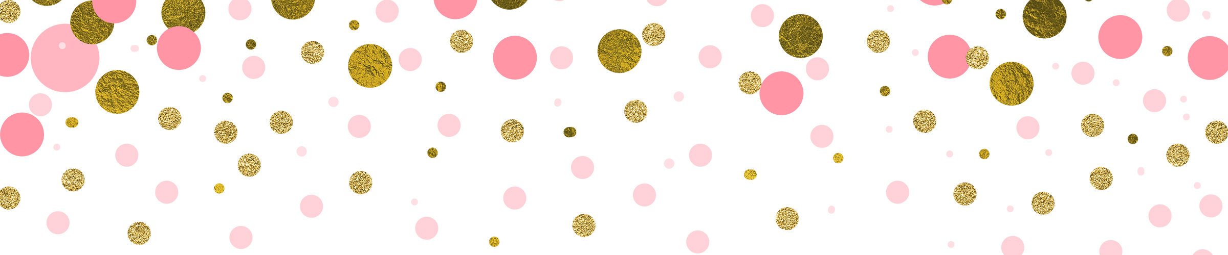 Pink and Gold Confetti Overlays, Pack of 14 PNGs