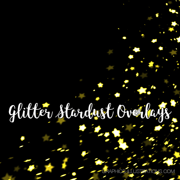 Glitter Stardust Photoshop Overlays