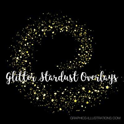 Glitter Stardust Photoshop Overlays