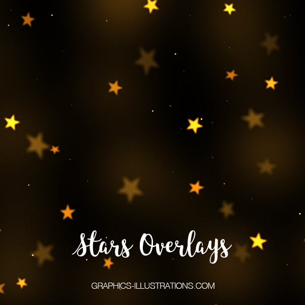 Gold Stars Photo Overlays