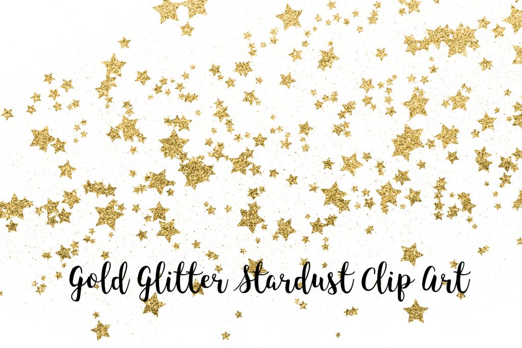 Gold Glitter Stardust Clip Art, Gold Glitter Stars Transparent PNG files, Gold Glitter Stars Overlays, Magic Dust, Night Sky